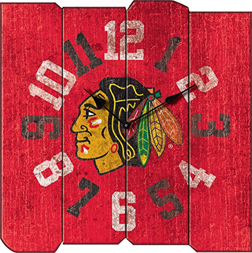 Imperial Officially Licensed NHL Merchandise: Vintage Square Clock, Chicago Blackhawks -