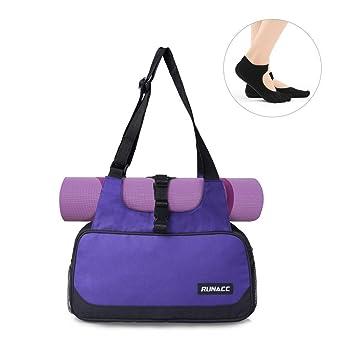 Compacto Bolsa de yoga mat ejercicio ligero bolsas de hombro ...