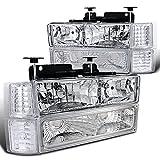 1998 silverado headlights - Chevy C/K C10 Pickup Silverado Chrome Headlights+Bumper Corner Signal Lamps