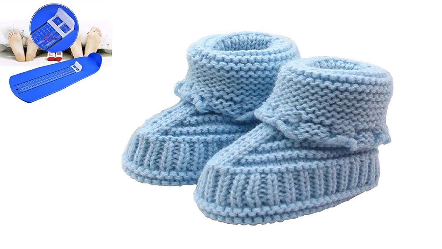 Amazon Tp Baby Booties With Free Feet Measuring Gauge Newborn