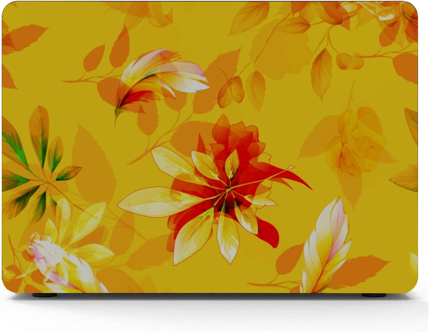 13 in Laptop Case Yellow Spring Beautiful Noble Peony Plastic Hard Shell Compatible Mac Air 11 Pro 13 15 MacBook Pro 15inch Case Protection for MacBook 2016-2019 Version
