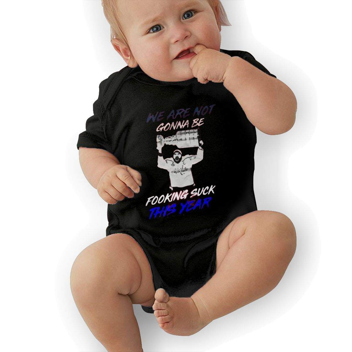 Infant We are Not Gonna Be Fookin Suck This Year Cute Soft Music Band Jersey Bodysuit,Black,18M