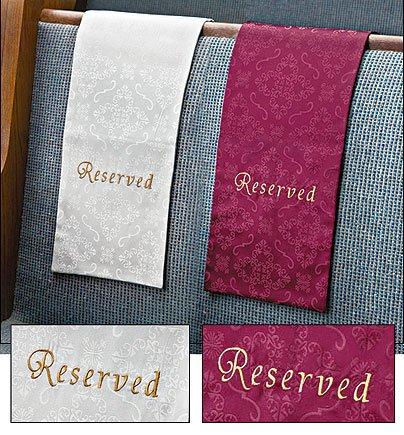 Embroidered Jacquard Reserve Pew Cloths Pack of 4 -