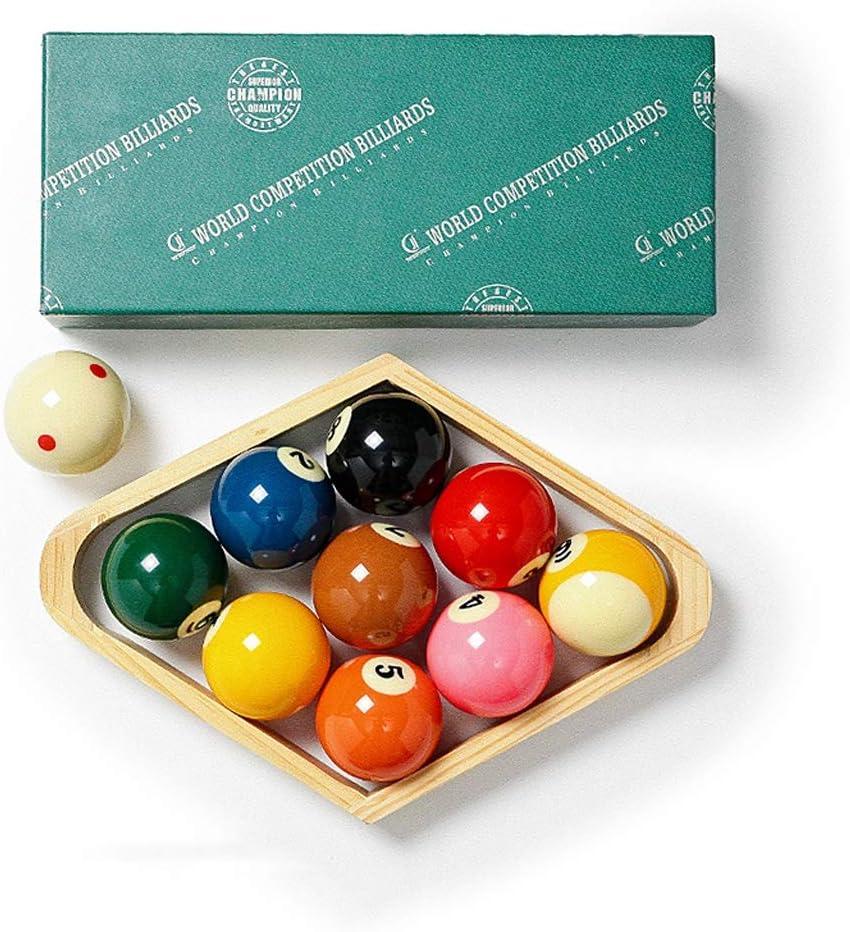 WXS Bolas de Billar, Resina Manchas y Rayas Juego de Bolas de Mesa de Billar 2 1/4 Pulgadas Conjunto de Bolas - 10 Bolas: Amazon.es: Deportes y aire libre