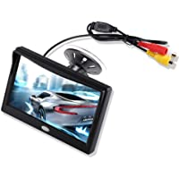 5'' Inch TFT LCD Car Color Rear View Monitor Screen for Parking Rear View Backup Camera with 2 Optional Bracket(Suckers…