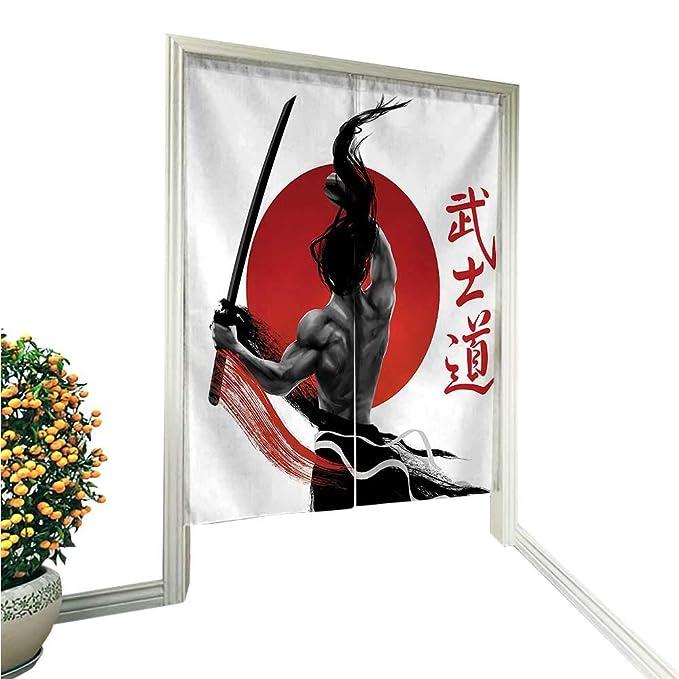 QianHe Cortina de Lino de algodón para Puerta, diseño de ...