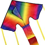 Anpro Colorful Kite for Kids and Adults - Huge Size and Best Easy Flyer, Huge Rainbow Kite