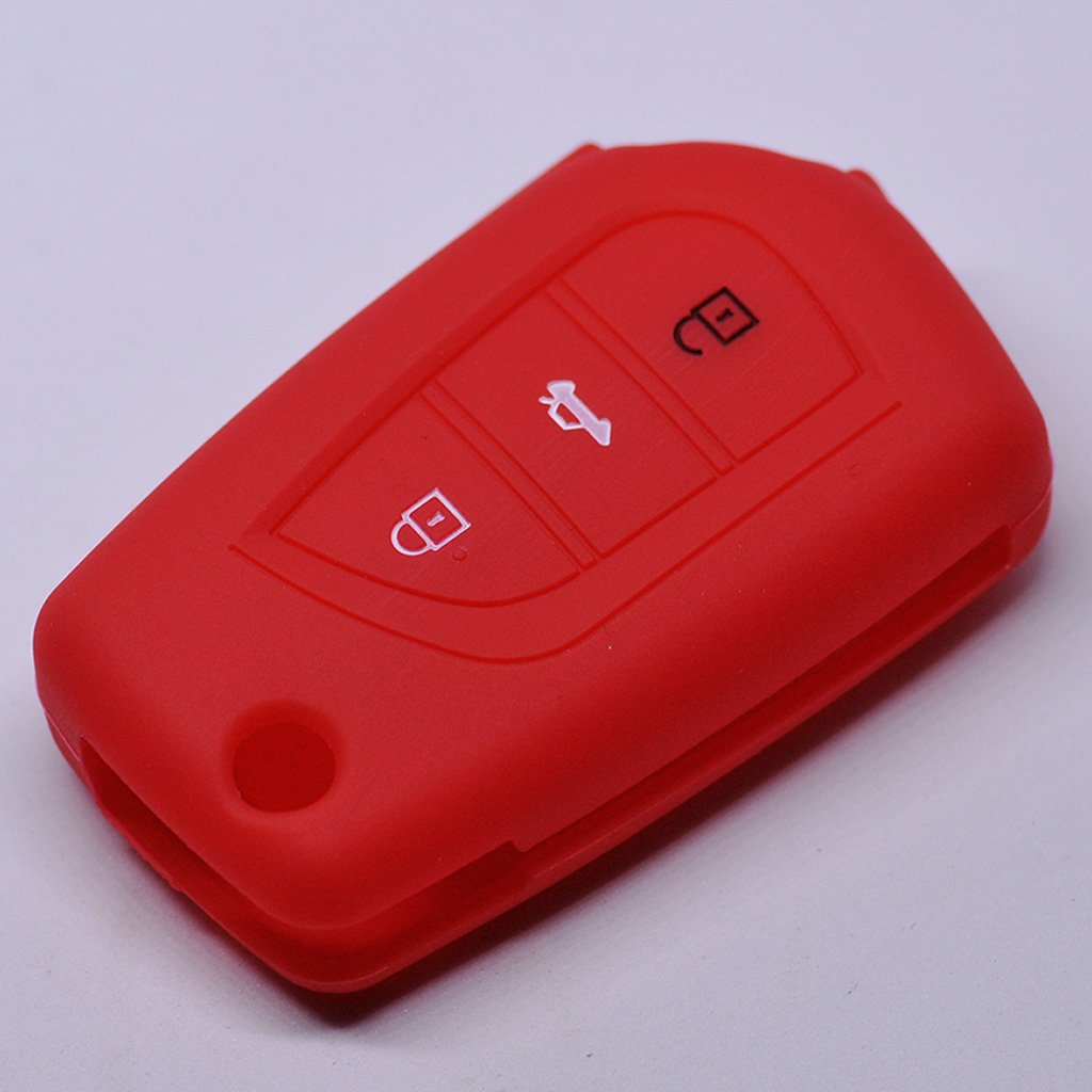 Key Soft Case Cover Funda Protectora de Silicona para el Coche Toyota AURIS Corolla Avensis//Color Rosa