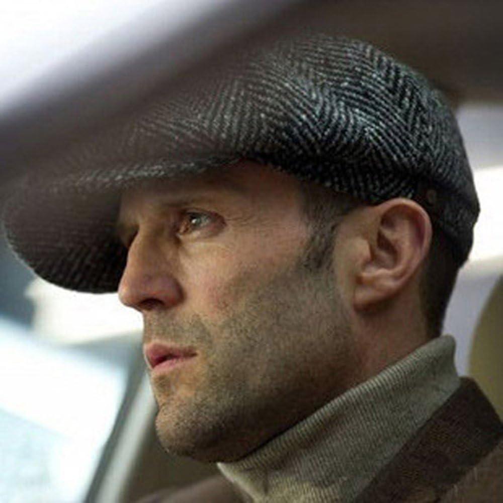 gi.amagi Newsboy Caps Movie star Retro Driving Wool Fleece Mens winter hats