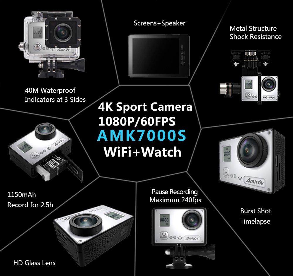 vigica act74s WiFi Action Kamera 20 MP Unterwasser 40 m 4 K HD Sport ...