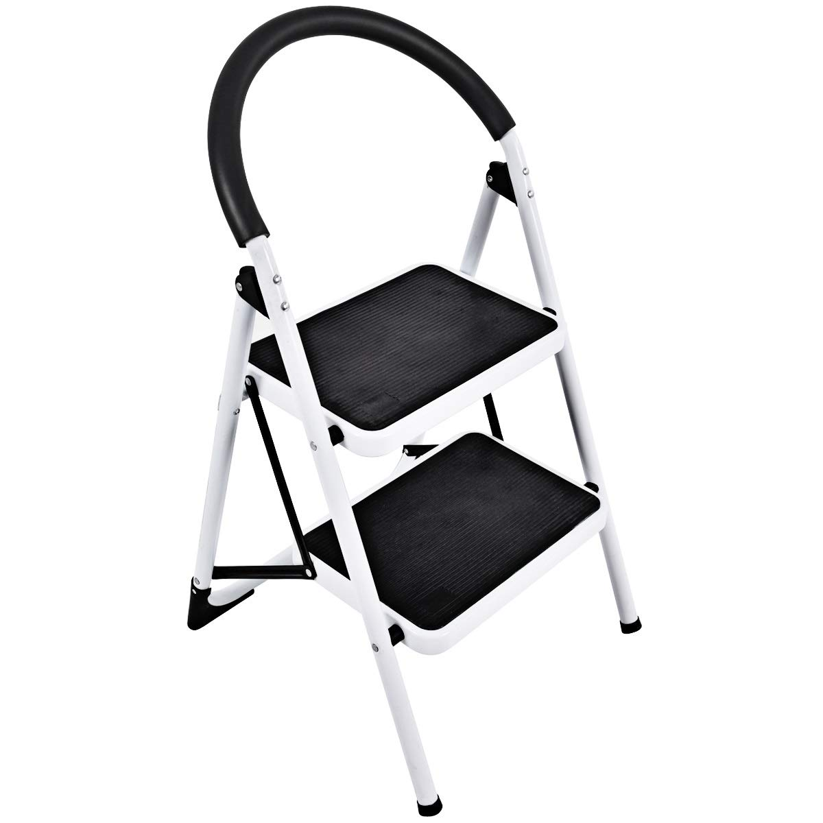 Remarkable Goplus Step Ladder Heavy Duty Folding 2 Step Ladder Step Stool With Handgrip And Wide Anti Slip Platform Sturdy Hd Construction 330Lbs Capacity Pabps2019 Chair Design Images Pabps2019Com