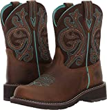 Ariat Women's Fatbaby Collection Western Cowboy Boot, Distressed Brown/Fudge, 10 B US