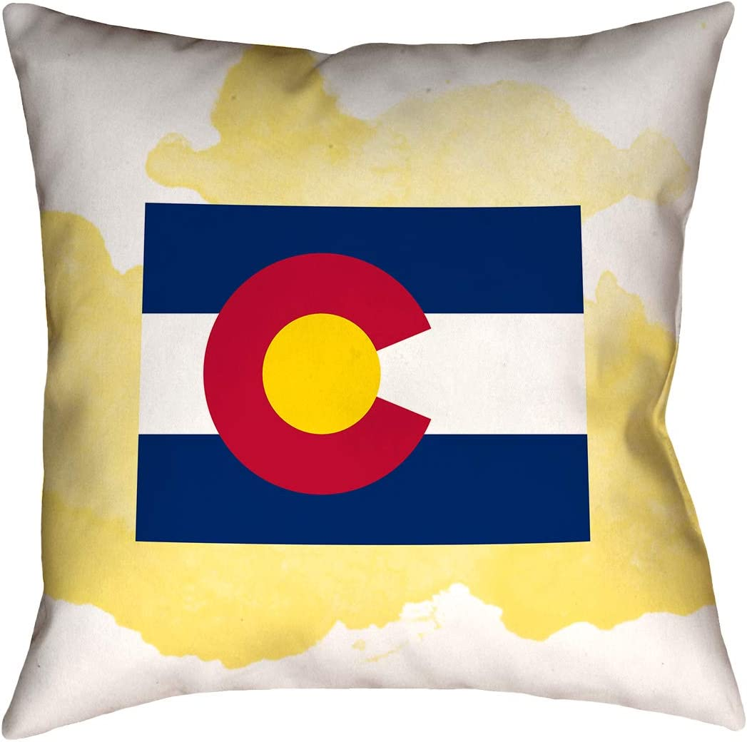 Pillow Cover Only ArtVerse Katelyn Smith Colorado Canvas 16 x 16 Pillow-Poly Twill Double Sided Print with Concealed Zipper
