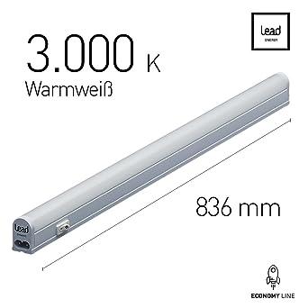 Großartig LED Unterbauleuchte  83.6cm   warmweiß   LED Lichtleiste 13W  IR55