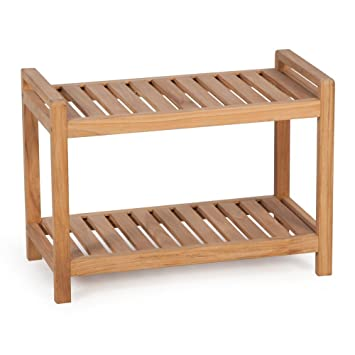 belham living teak shower bench