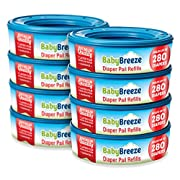 BabyBreeze Diaper Pail Refills Bags for Diaper Genie - 2240 Count (8-Pack)
