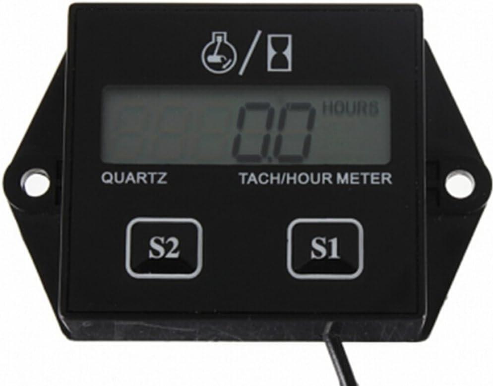 Spark Plugs Engine Digital Tach Hour Meter Tachometer Gauge