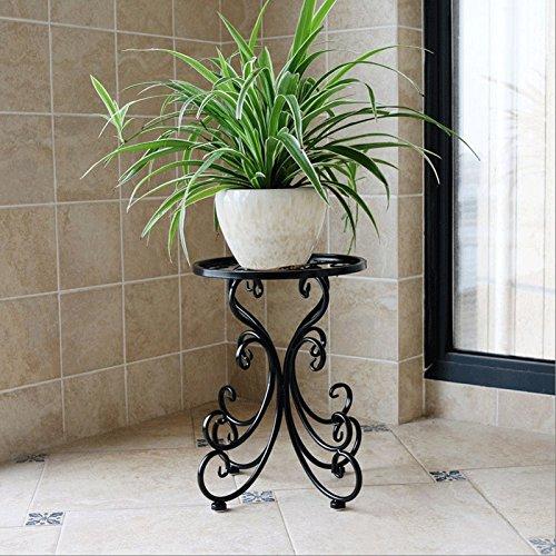 LSJT Singolo Portavasi Da Interno Ed Esterno Piante Luminosi Semplice Esposizione Da Giardino Bonsai (colore   nero)