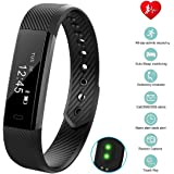 Fitness Tracker with Heart Rate Monitor, bossblue Smart Fitness Watch Touch Screen Activity Health Tracker Wearable Pedometer Smart Wristband
