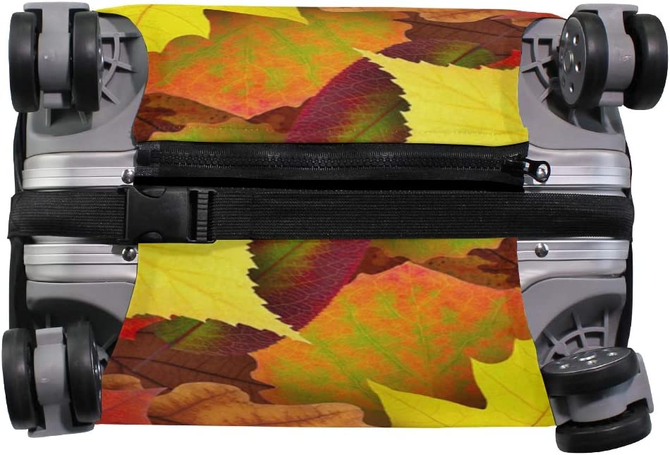 OREZI Luggage Protector,Autumn Leaves Elastic Travel Luggage Suitcase Cover,Washable and Durable Anti-Scratch Case Protective Cover for 18-32 Inches