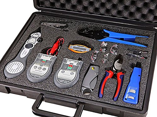 Monoprice Lan and Coaxial Installation Kit with Tester and Tone Generator (108135) (Tone Lan Generator)
