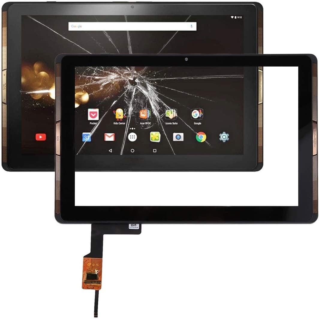 Leya-US Mobile Phone Repair Parts Touch Panel with Frame Compatible for Acer Iconia Tab 10 / A3-A40 (Black) (Color : Black)