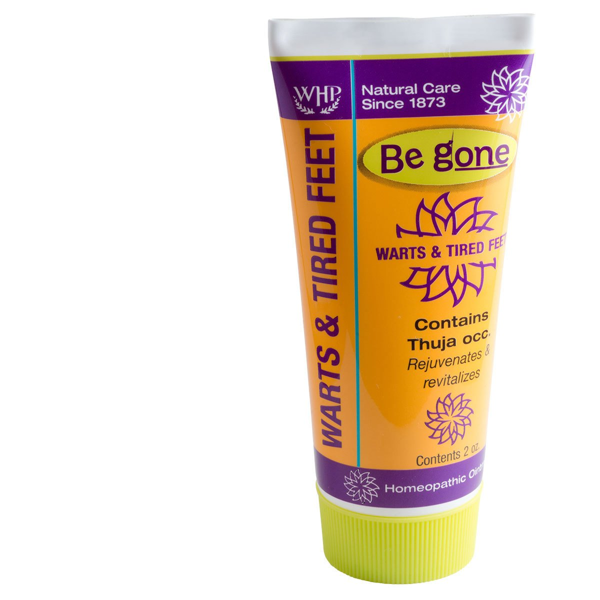 WHP Be gone™ Warts & Tired Feet Thuja Ointment for Healing of Skin Conditions, 2 Ounces. Topical Ointment for Warts, Calluses, Corns, Tired Feet and Sore Feet. Natural Active Ingredient.