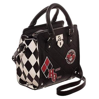 d2e2676063 DC Comics Harley Quinn Deluxe Mini Brief Handbag Purse Satchel: Handbags:  Amazon.com