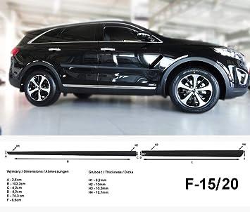 Spangenberg Listones de protección Lateral, Color Negro, para Kia Sorento III SUV Combi Tipo