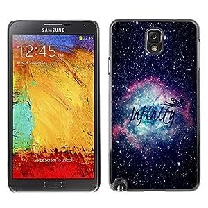 X-ray Impreso colorido protector duro espalda Funda piel de Shell para SAMSUNG Galaxy Note 3 III / N9000 / N9005 - Infinity Space Awe Inspiring