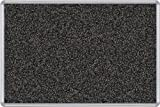 Best-Rite Presidential Trim Rubber-Tak Tackboard, Silver Trim, 4 x 8 Feet, Black (321PH-96)