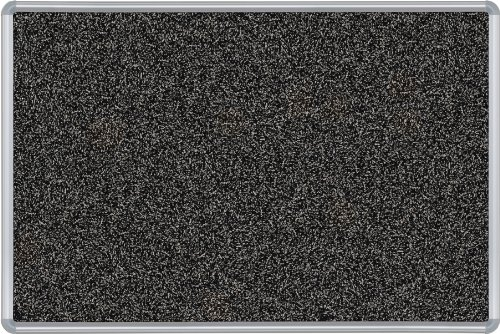 Best-Rite Presidential Trim Rubber-Tak Tackboard, Silver Trim, 4 x 8 Feet, Black (321PH-96) by Best-Rite