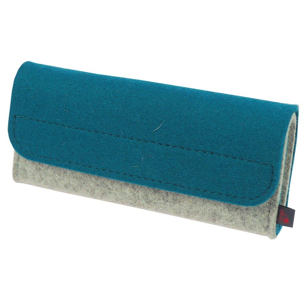 Estuche de medicamentos de ebos ✓ Botiquín de viaje ✓ Estuche para glóbulos fabricado en fieltro de lana auténtica ✓ 32 lazos para frascos de glóbulos y tubos de glóbulos | Estuche