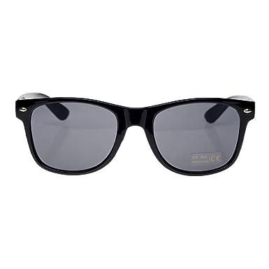 4sold (Homme, femme) Geek Style 1980 de mode Lunettes de soleil avec verres  fumés protection UV400 vendeur britannique, Homme femme Enfant, black  black  ... 38f49427a325
