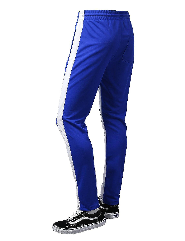 URBANCREWS Mens Hipster Hip Hop Athletic Running Track Drawstring Sweatpants