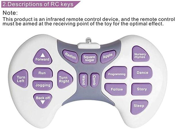 Stift P/ädagogisches Spielzeug f/ür Haus Kindergarten usw. RC Roboter FLAMEER RC Intelligenter Roboter Set inkl