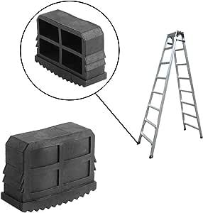 Escalera pies, 4 piezas de goma antideslizante pies de recambio para escalera paso escalera extensible, negro: Amazon.es: Bricolaje y herramientas