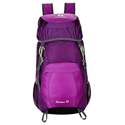 Ultralight Outdoor Sport Backpack,Dainzuy 20L Foldable Lightweight Packable Travel Hiking Backpack Daypack (28 X 52 X 23 CM, Purple) 85%OFF