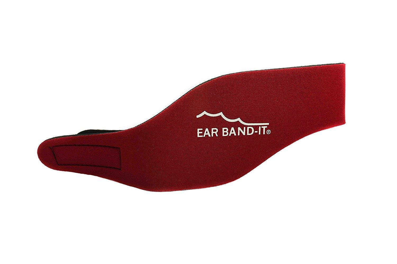 Swim Stop medium viola Fascia nuoto copriorecchie Ear Band-it Viola