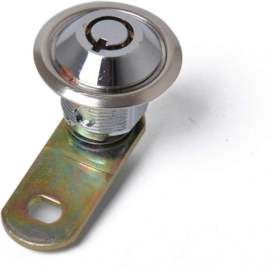 Tubular Cam Lock con 2 llaves, aleaci/ón de cinc, cromada Cerradura para armario el/éctrico
