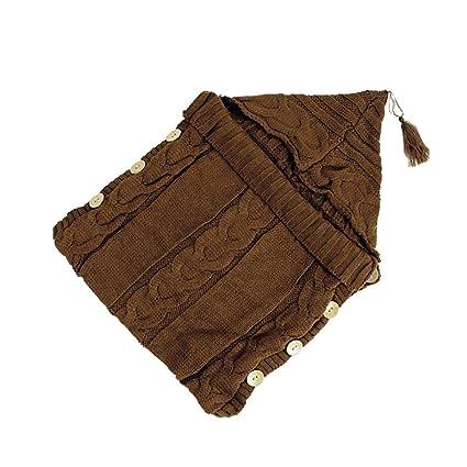 Decdeal Saco de Dormir del bebé Recién Nacido Abrigo del bebé Crochet cálido Punto Manta Infantil