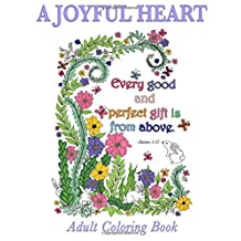 Christian Coloring Book: A Joyful Heart: Inspirational Quotes from the Bible