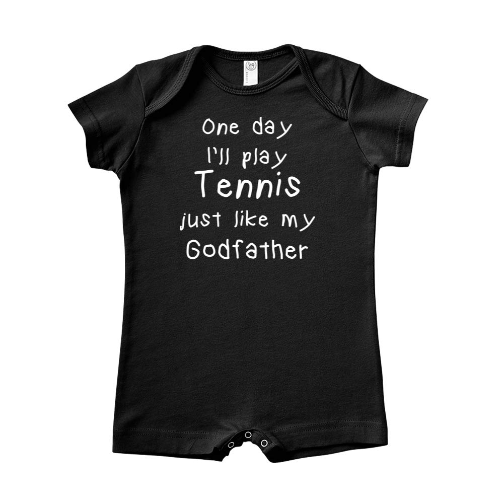 One Day Ill Play Tennis Just Like My Godfather Baby Romper
