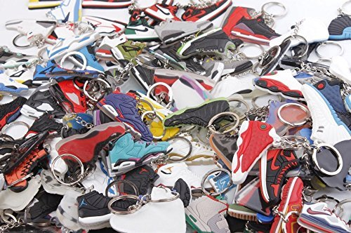 TSKeys Mini Silicone Sneaker Keychain Charm Surprise Pack, Perfect Gift - 40 keychains (Sneaker Keychains)