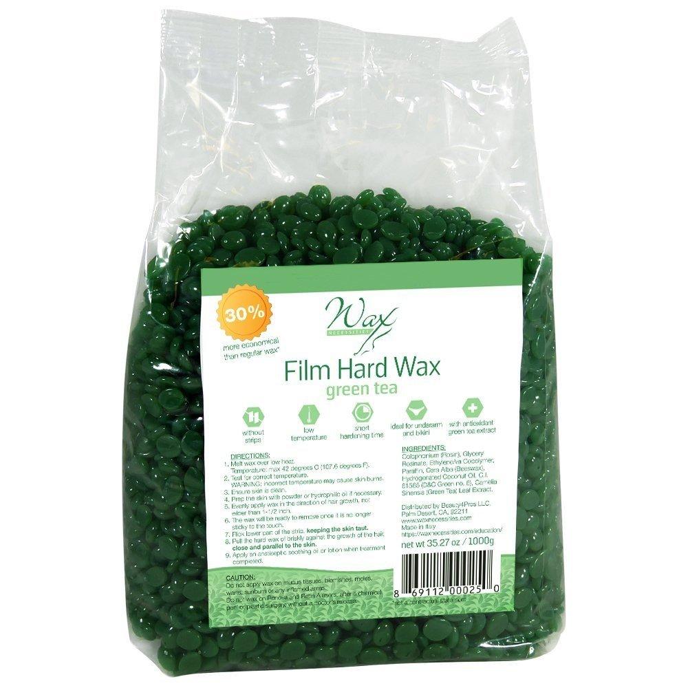 Wax Necessities Film Hard Wax Beads - Green Tea 35.27 oz (1000g)