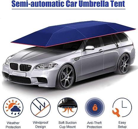 Xljh Carpa para Auto Cubierta Semiautomática automática con Control Remoto portátil Parasol Parasol para Coche Cubierta para Techo Exterior Kits de protección UV: Amazon.es: Deportes y aire libre