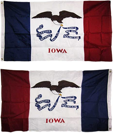 Wholesale Combo Lot of 3x5 USA Flag /& State of  Iowa 3x5 2 Flags Banner
