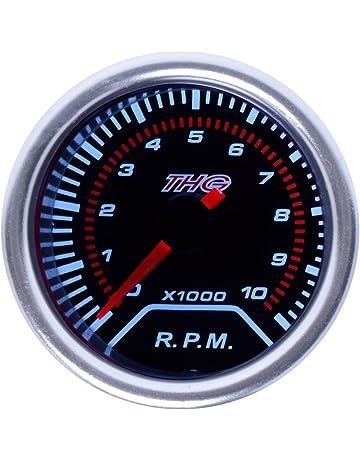 Keenso LCD Motor Digital Tacho//Stundenz/ähler Drehzahlmesser Drehzahlanzeige Tester f/ür 2//4 Takt Gas Motor Motorrad ATV