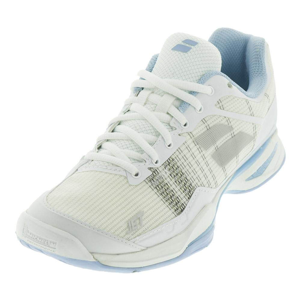 Babolat Women's Jet Mach I All Court Tennis Shoes B07994ZZVX 7.5 B(M) US|White/Sky Blue