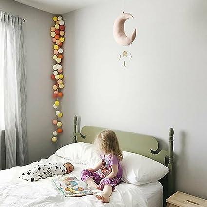 VORCOOL Suspension d/écorative Rose Lune Golden Sterne Baby Mobile Plaid Fen/être Mur Chambre Chambre Chambre Chambre D/écoration